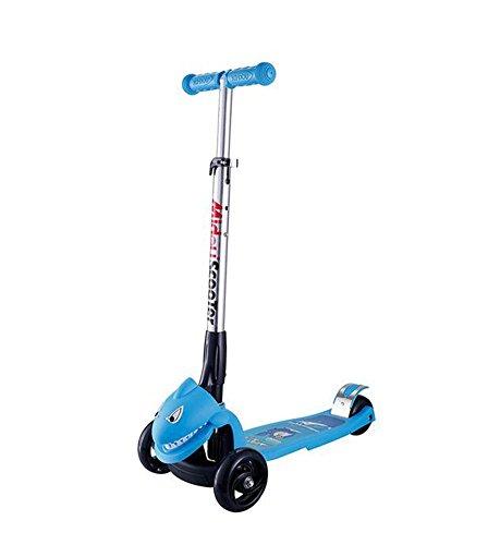 HJXJXJX Zwei Farben optional anhebende Flash Faltung dreirädrige Roller , blue
