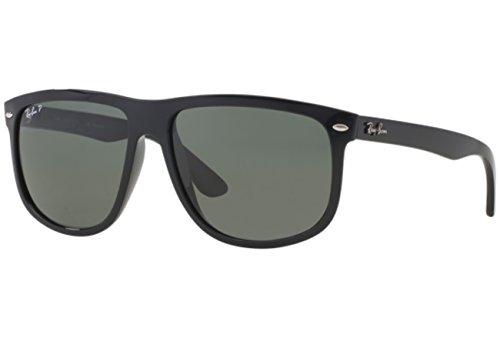 Ray Ban Für Mann Rb4147 Black / Green (Polarized) Kunststoffgestell Sonnenbrillen, 56mm