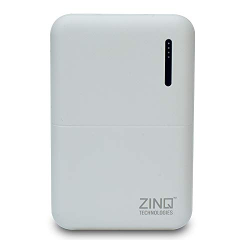 Zinq Technologies Z10KP 10000mAH Lithium Polymer Power Bank (Qualcomm Certified) with QC 3.0 (White)