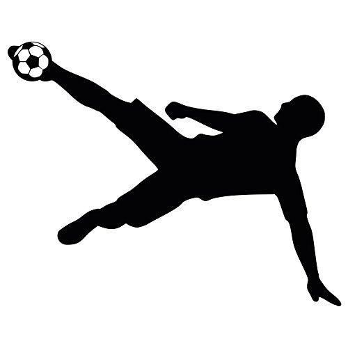 "Preisvergleich Produktbild Wandtattoo / Wandaufkleber / Wanddekoration / Fußball-Weltmeisterschaft 2018 / Tolles Fußball Wandobjekt - ""Fußballspieler-Silhouette"" / WM-Fanartikel / Maße: ca. 60x48 cm"