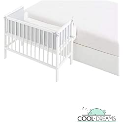 Minicuna colecho XL Flapy 90x55, 6 alturas de somier + kit colecho + colchón + protector y edredón Moon Amour