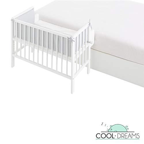 Minicuna colecho XL Flapy 90x55, 6 alturas de somier + kit colecho + colchón + protector y edredón Lovely Bear