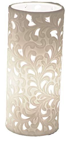 Formano Porzellan-Lampe Rund Harmonie Romantik Tischleuchte Nachttischlampe Nachttischleuchte...