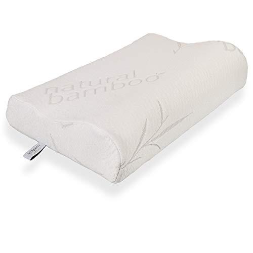 Therapeutische, Memory-schaum (Comfylife Konturierungskissen aus Bambus-Memory-Schaum, EIN festes, Flexibles therapeutisches Kissen für einen ruhigen Schlaf und reduziert Nacken- und Schulterschmerzen Standard Size weiß)