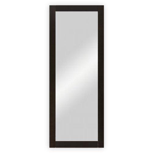Wand-  Garderobenspiegel mit Holzrahmen, wengefarbig gebeizt - ca. 45 x 170 cm