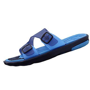 Scarpe da uomo PU Sandali Casual Casual Sandali Sport tallone piano Altri Blu / Marrone / Giallo / sandali US10 / EU43 / UK9 / CN44