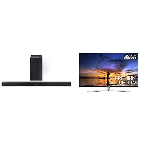 "Samsung HW-K450 Soundbar da 300 W, 2.1 Canali, Nero+ UE55MU8000TXZT UHD Smart TV 55"" Serie MU8000, Tecnologia LED, Argento"