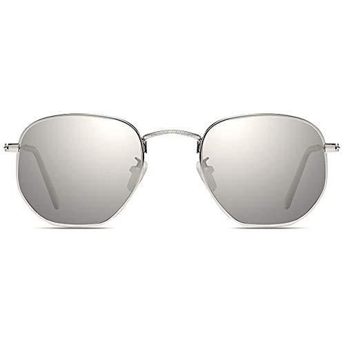 FURUDONGHAI New Colorful Alloy Corporeal UV400 Sonnenbrille Silber/Blau Lens Silver Frame Männer und Frauen mit dem gleichen Fahren Driving Sonnenbrille besonders geeignet für sommerreisen oder outd