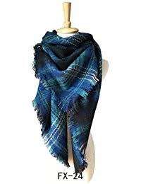 HITSAN INCORPORATION Designer autumn winter women s scarf plaid warm  cashmere scarves square scarf bandana pashmina lady wrap… 3289715ea2f