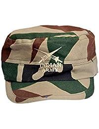 004247e3914f57 SoSh Indian Army Men's & Women's Unisex Cap, Baseball Cap,Classic  Adjustable Plain Hat
