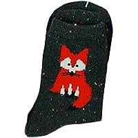 TDPYT 5 Unids/Cute Fox Animal Algodón De Dibujos Animados Calcetines De Las Mujeres Otoño Invierno Calcetines Strip Algodón Niñas Calcetines