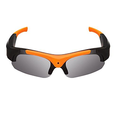 OOZIMO HD 1080P Occhiali Videoregistratore Occhiali da Sole Telecamera Registrazione DVR Videocamera (Arancia)