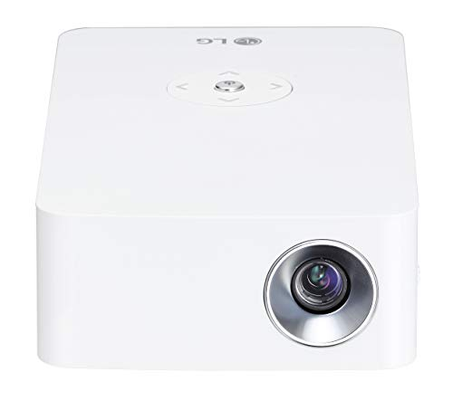LG PH30JG - Proyector portátil LED de 100' (250 lm, batería 4 horas, USB-C, Bluetooth, lámpara LED RGB hasta 30.000 horas de vida útil) blanco