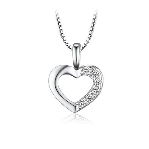 Jewelrypalace 7.26ct Liebe Herz Prinzessin Damen Kubik Zirkonia Verlobung Hochzeit Anhänger Halskette Mit 45cm Box Kette 925 Sterling Silber