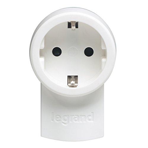 Legrand, Schutzkontakt-Stecker mit Steckdose (16A/230V), mit Kabelanschluss bis 3x1.5 mm², 050462