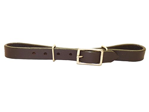 Western mento cinghie Curb Strap Single marrone rossiccio