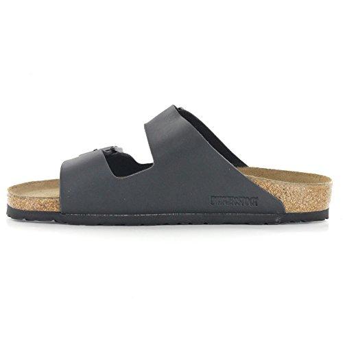 Birkenstock Arizona Birko Flor - 251073 , Unisex Sandale pour Adultes Noir (Black)