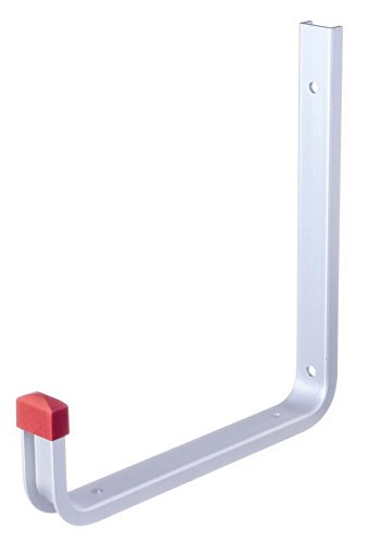 GAH-Alberts 805555 Wandhaken, abgewinkelt, Aluminium, 190 x 200 mm / 1 Stück