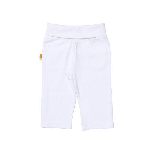Kanz Steiff Unisex - Baby Jogginghose, Gr. 56, WeißUnisex - Baby Hose Normaler Bund 0006616, Gr. 56, Weiß (1000)