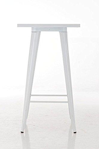 CLP Metall Stehtisch LOGAN Bartisch weiß - 2