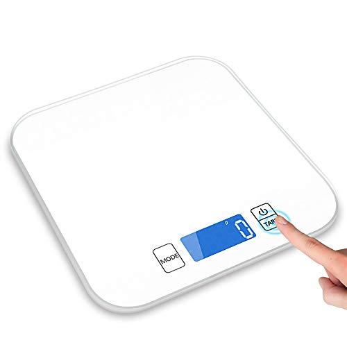 ZUEN Digitale Küchenwaage Hochpräzise Küchenwaage Haushaltsbackwaren Elektronische Waagen LCD-Monitore Für Haushaltsküchen,White Commercial Lcd Monitor
