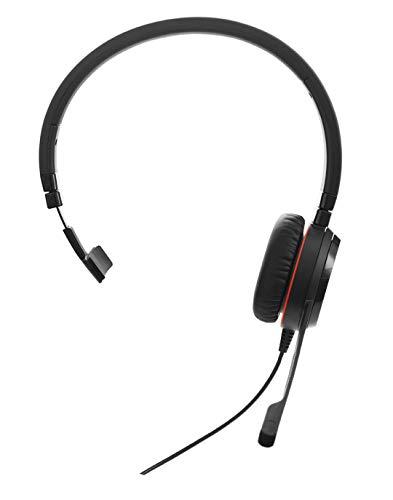 Jabra Evolve 30 II MS Mono-Kabel-Headset mit USB und Klinke für PC/Laptop oder Smartphones, telefonieren und Musik hören, Skype-zertifiziert, mit Reiseetui Mono-pc-headset
