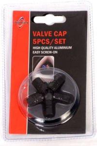 Price comparison product image BLACK VALVE DUST CAPS FOR AUDI Q5 Q7 S3 S4 S5 RS3 RS4