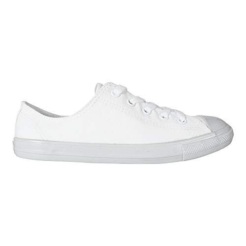 Converse Damen Sneaker Chuck Taylor Dainty Ox weiß Platinum, Größe:42.5