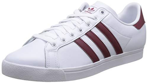 adidas Coast Star, Zapatillas de Gimnasia para Hombre, Blanco (FTWR White/Collegiate Burgundy/FTWR White FTWR White/Collegiate Burgundy/FTWR White), 42 EU