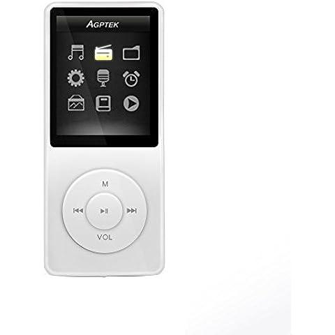 AGPTek- A02 Reproductor de MP3 8 GB pantalla de 1,8
