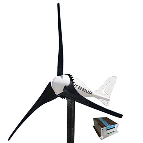 TESUP Turbina de viento 12V i-500 + controlador de carga híbrido de 650 vatios + Interruptor manual...