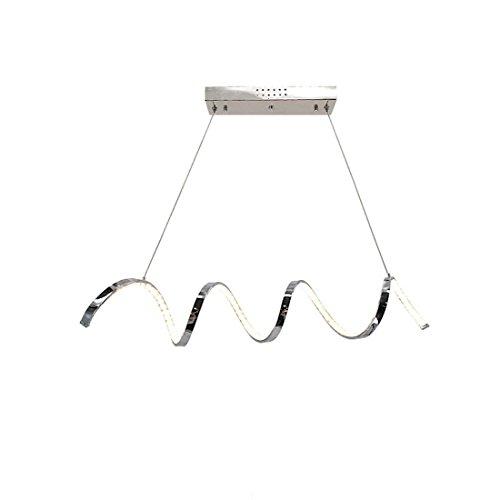 Onfly Einfache Serpentine Crystal Chandelier Ambient Light, Aluminium Pendelleuchte, Deckenleuchte Hängeleuchte, warmes/weißes Licht, 110-120V 220-240V (Color : White Light) -