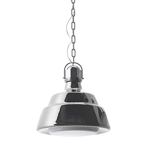 Diesel With Foscarini Glas Grande lampe suspendue chromée