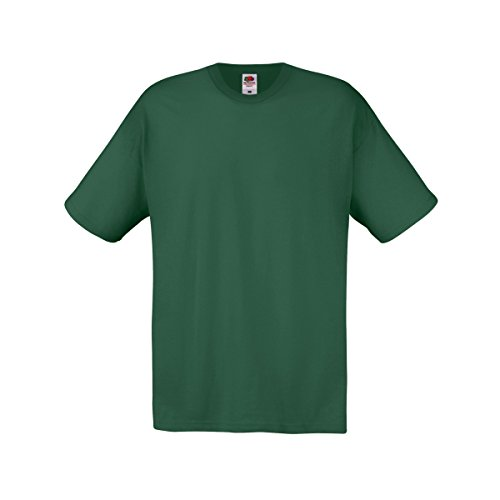fruit-of-the-loom-screen-stars-original-maglietta-100-cotone-uomo-l-verde-bottiglia