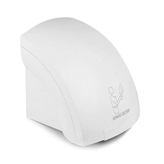 DEALCROX Automatic Hand Dryer Machine for Bathroom, Washroom, Home 1800W (White)