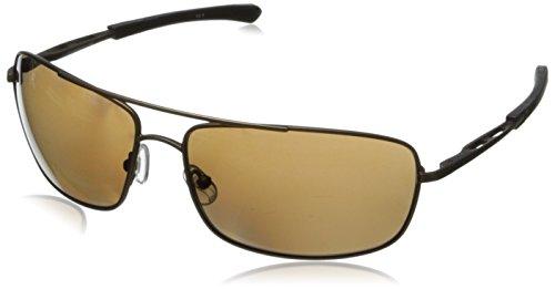 Gargoyles Barricade Polarized Wrap Sunglasses, Brown, 63 mm