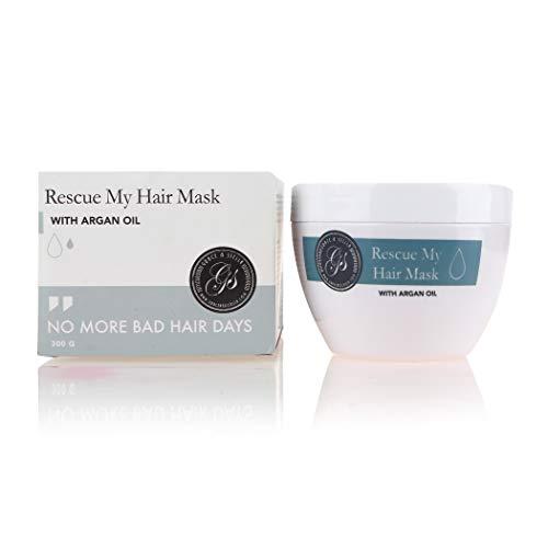 BESTE Argan-Öl Haar Maske | Hydrierende & Feuchtigkeitsspendende Intensiv-Spülung für Trockenes, Beschädigtes Haar | Mit Marokkanischem Arganöl & Sonnenblumenöl | 300ml / 10.5oz