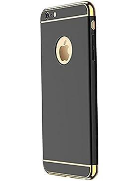 Funda iPhone 6/6s 4,7 pulgadas Teryei® 3 in 1 alta calidad ultra fina Protector completo PC carcasa Shell Negro...