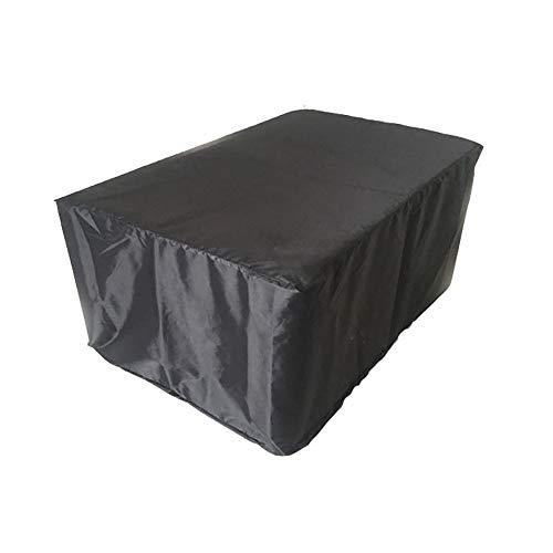 FCZBHT Couverture de Meubles Cache-poussière Noir pour Meubles Polyester, Jardin Extérieur Canapé Table Et Chaise Housse De Pluie Garde poussière (Couleur : Noir, Taille : 250 * 250 * 90cm)