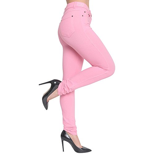 Made By Malaika® Ladies Skinny Fit Coloured Jeggings New Womens Stretch Denim Pants High Wasted Jeans Fit Trouser Plus Size UK 8-26