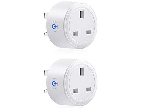 Smart Plug,2 Pack Mini WiFi Outlet Rmeet Wireless Socket Compatible with Amazon Alexa Google Home IFTTT Timer Plug Switch with Energy Monitoring Remote/Voice Control Timer Setting