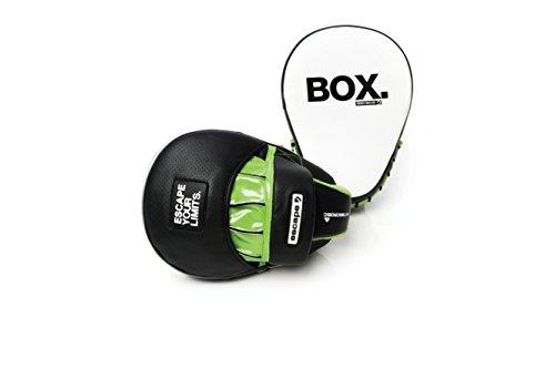 escape Boxpads Hook & Jab Pads - Gebogen, Schwarz/Grün, EBOX-CHJP