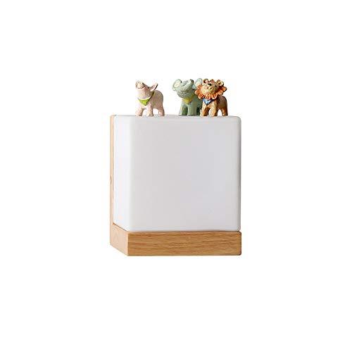 Moderne eichenholz wandleuchten cube zuckersieb schlafzimmer wand home wandleuchte 110-220 V