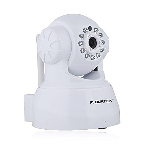 Floureon® sp012720P Caméra IP Wifi Caméra ONVIF H.264Pan/Tilt 2Voie audio11LED infrarouge vision nocturne CCTV caméra P2P sécurité Motion Alarme Alarme par e-mail