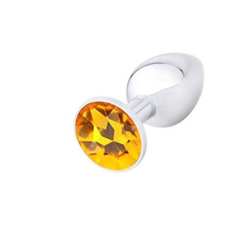 SEXTOY ANAL BUTTPLUG BUTT PLUG Metall STAHL KRISTALL - Marke LPDC® -klassisch - L -Gold