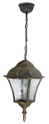 Edle Hängeleuchte Deckenlampe in antik-gold Hoflampe Außenleuchte Gartenleuchte 8394 IP43
