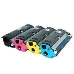 Preisvergleich Produktbild Toner-Spar-Set (cmyk,  ca. 4.500(BK) / 4.500(CMY) Seiten) für Epson Aculaser C 1900,  C 900 ersetzt S0 50097,  50098,  50099,  50100K
