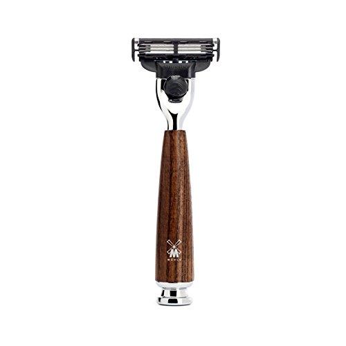 MÜHLE - Nassrasierer - RYTMO Serie - Gillette® Mach3® - dunkles Eschenholz