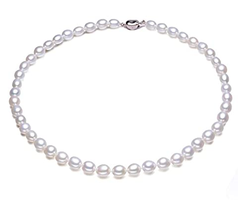 JYX 9-10mm Black South Sea Tahitian Cultured Pearl Necklace 24