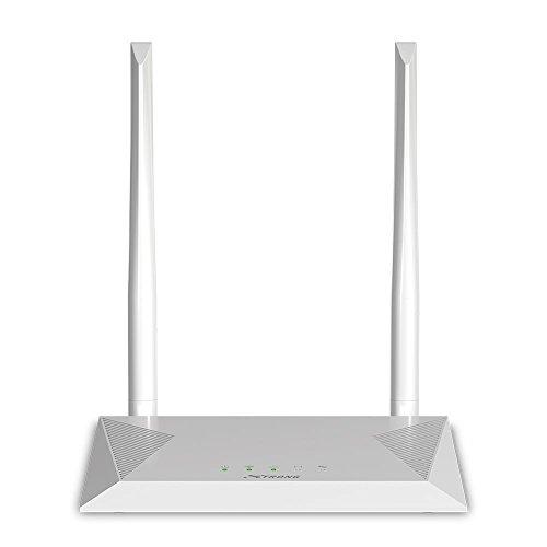 STRONG WLAN Router 300 (bis 300 Mbit/s bei 2,4 GHz, LAN, WAN, WPA/WPA2, 802.11 n/b/g Wifi, 2 Antennen) weiß (Breitband-modem Wlan -)
